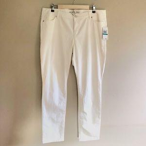 NWT Michael Kors Ivory Skinny Leg Jeans